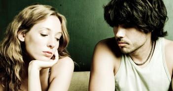 Paar, unglücklich