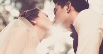 Ehe, Hochzeit, Paar, Kuss