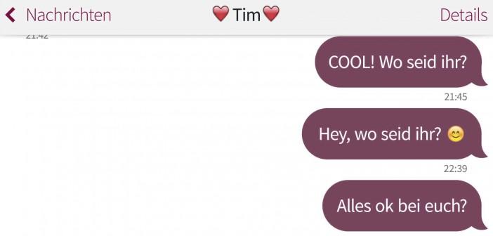 Beziehungs-Gespräche: Textnachrichten vom Junggesellenabschied