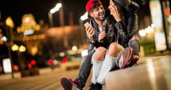 Paar auf der Straße