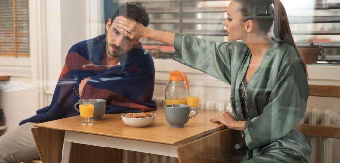 40 Sätze, die Paare bei einer Erkältung sagen