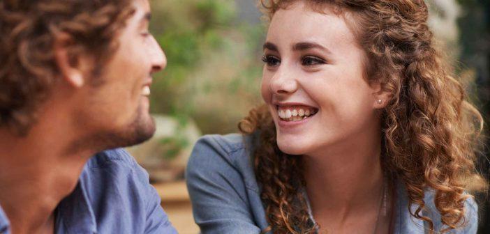Flirten per blickkontakt