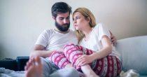 Unglückliche Partner in der Beziehung