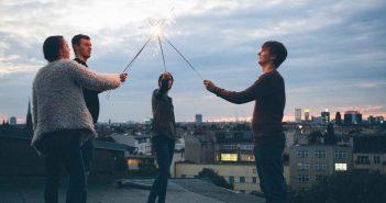 Freunde sind Grund fürs Glücklichsein