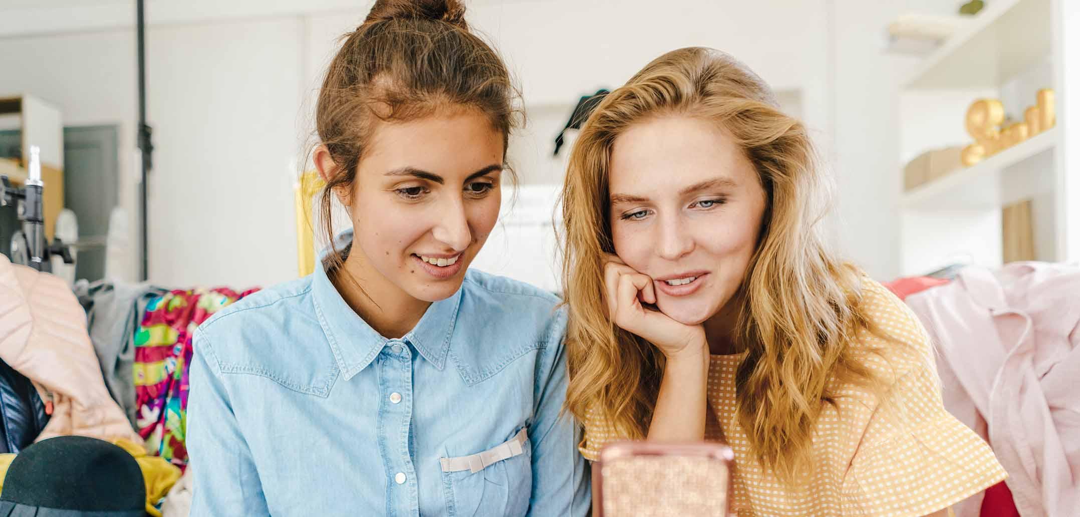 Wenn die beste Freundin für Sie online sucht