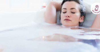 Entspannen in der Badewanne